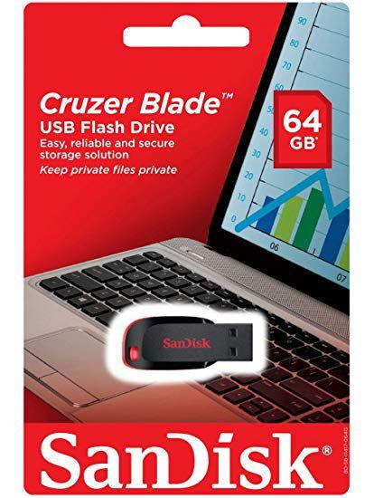 Pen Drive 64gb Sandisk Cruzer Blade Z50