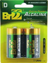 PILHA ALCALINA BR55 AA R-LR6 1.5V C/4