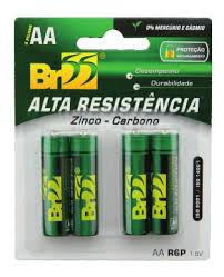 PILHA DE ZINCO BR55 AA C/4 R6P