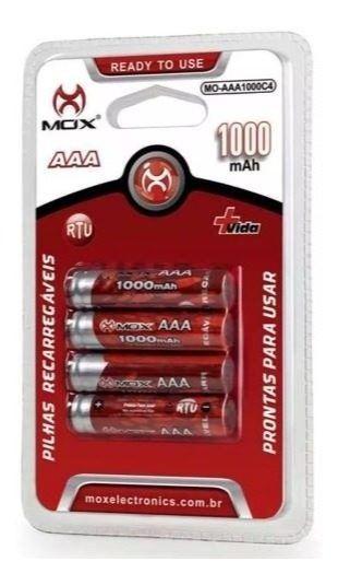 Pilhas Recarregáveis 4 unidades AAA 1100mAh