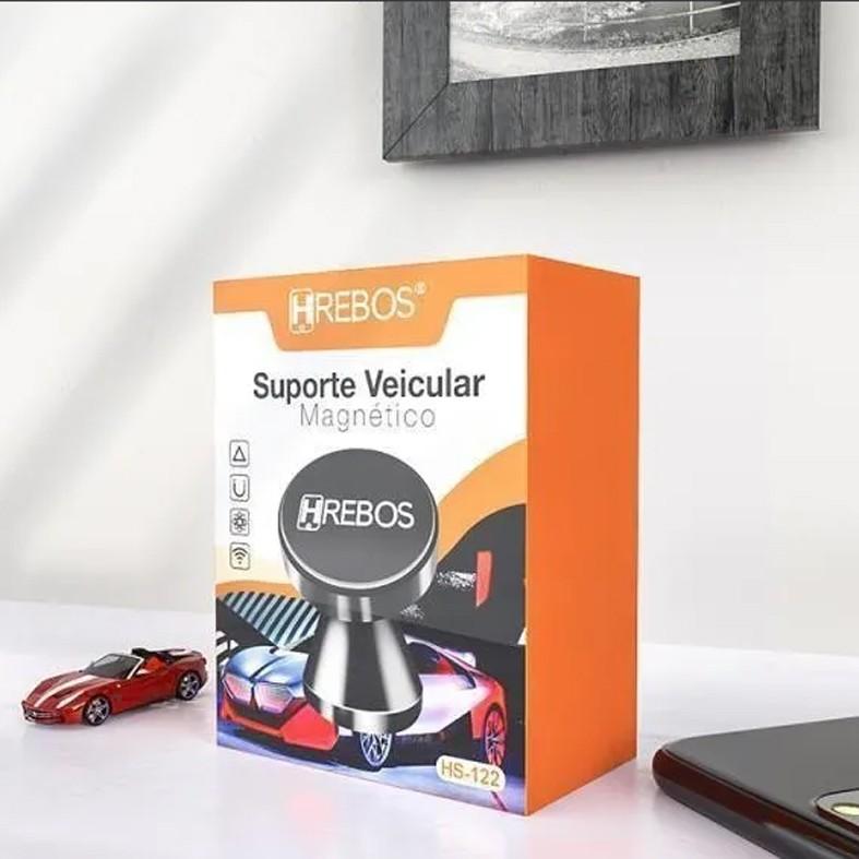 SUPORTE VEICULAR MAGNETICO HREBOS HS-122