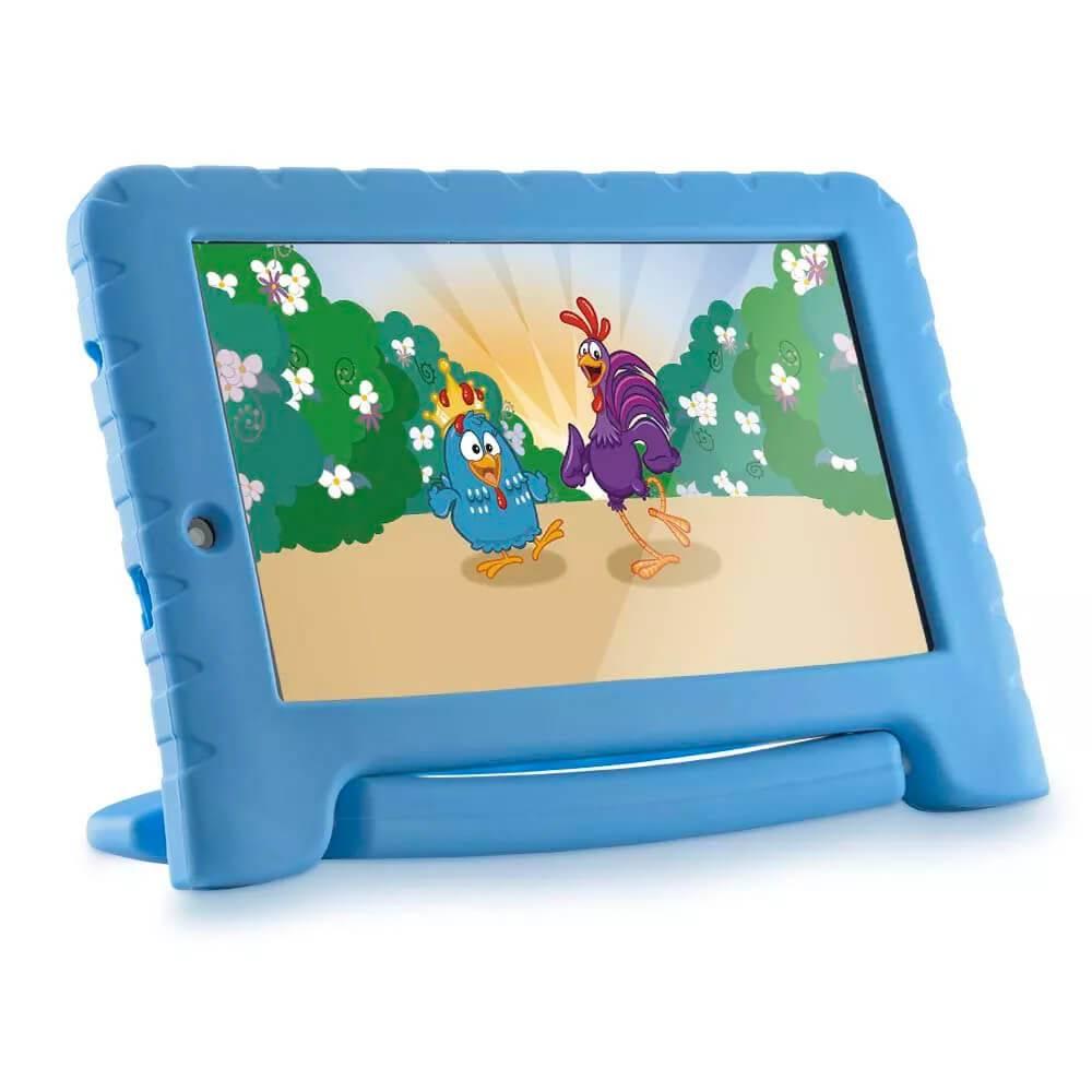 Tablet Galinha Pintadinha Plus Quad Core 1GB RAM Wifi 7 Pol. 8GB Android 7