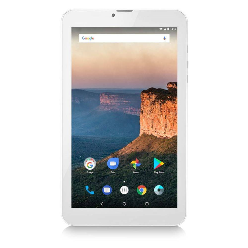Tablet M9-3G Quad 8GB 9 Pol. Preto Multilaser prata