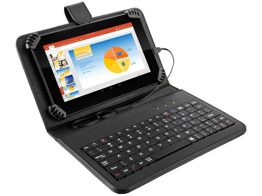 "Tablet Multilaser M7S Plus com Teclado 8GB 7"" - Wi-Fi Android 7.0 Quad Core com Câmera Integrada"
