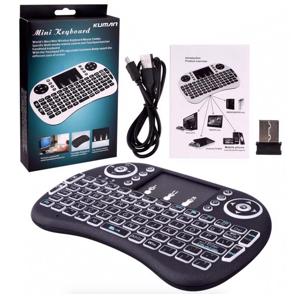 Teclado Sem Fio Mini Keyboard Backlit Android Oferta