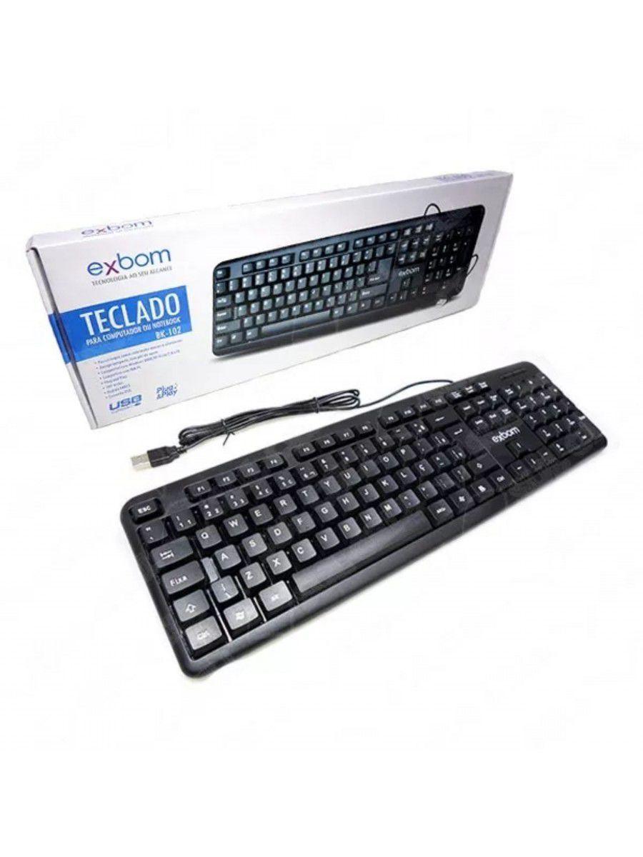 TECLADO USB EXBOM BK-102