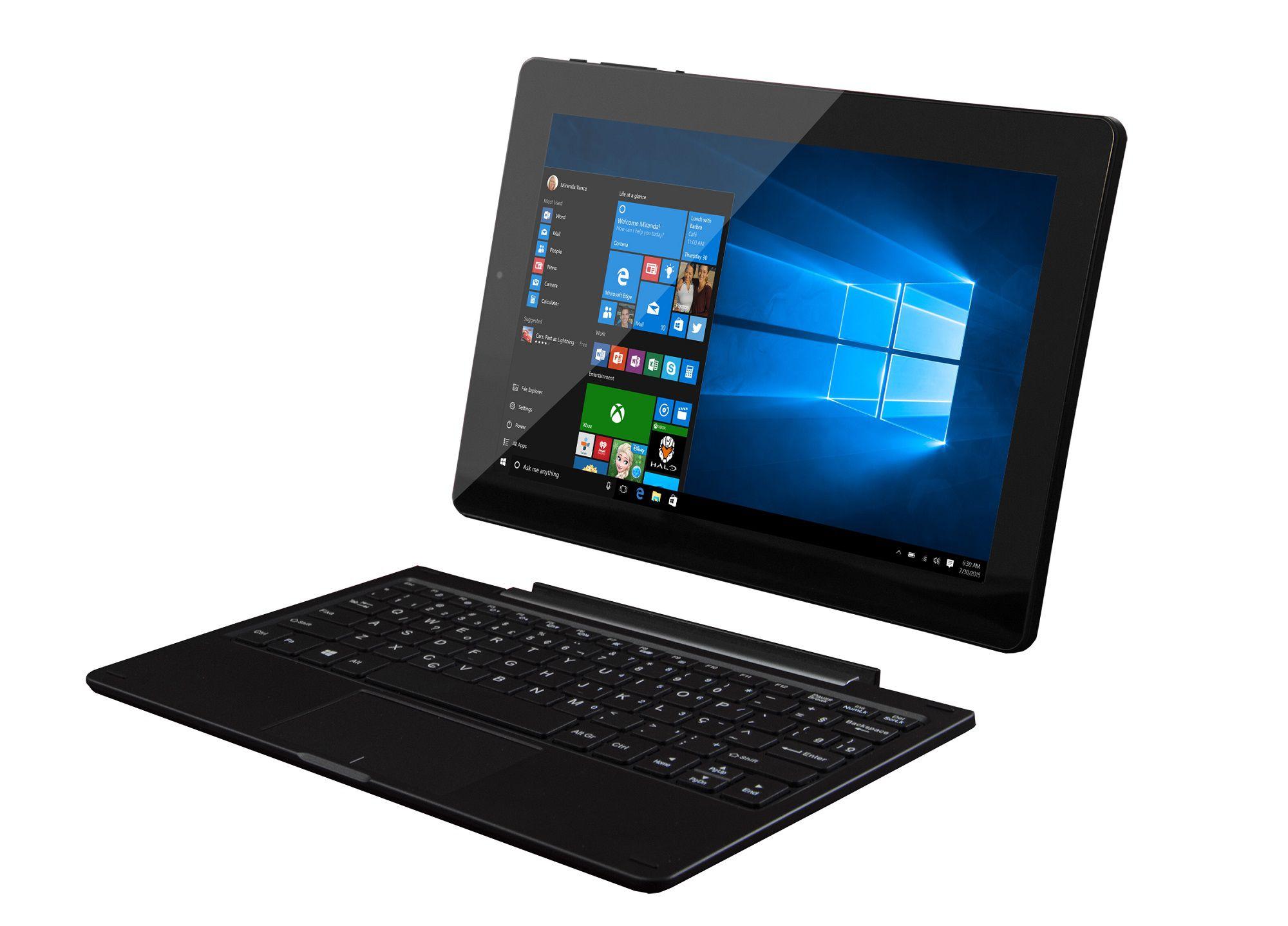 Notebook 2 em 1 Tela 10.1 Memória Interna 16GB Windows 8