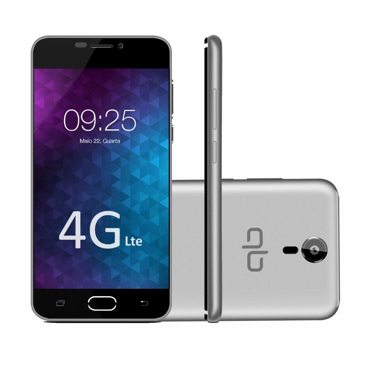 Smartphone Flix 8GB 4G Dual Chip Desbloqueado Cinza