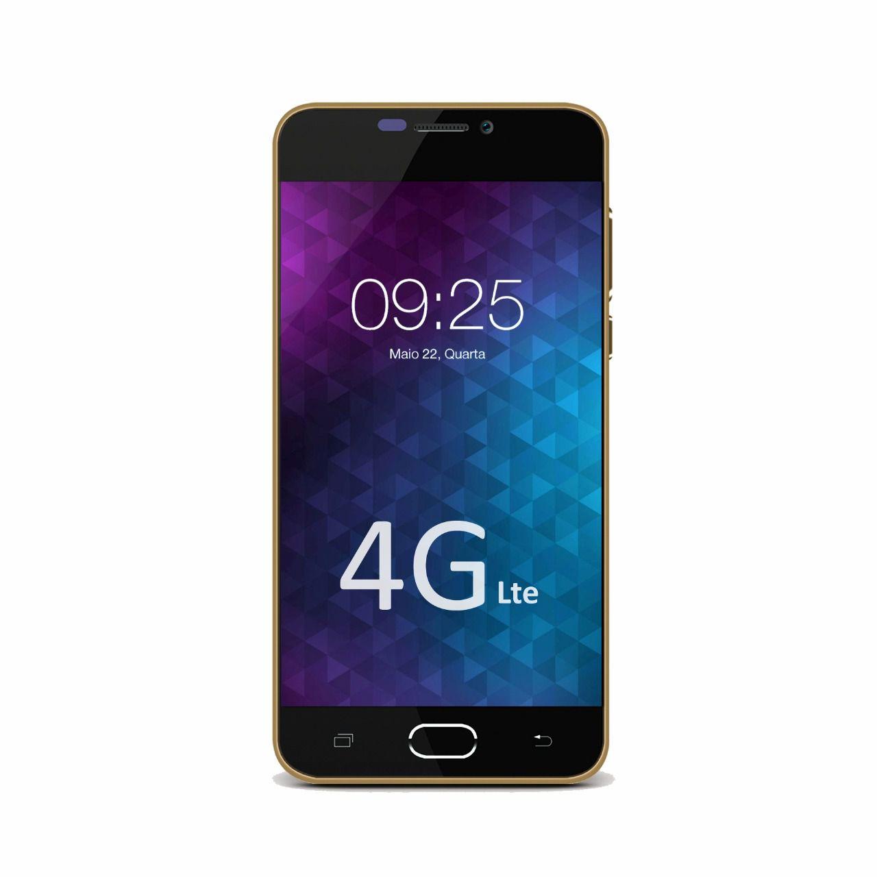 Smartphone Flix 8GB 4G Dual Chip Desbloqueado Dourado