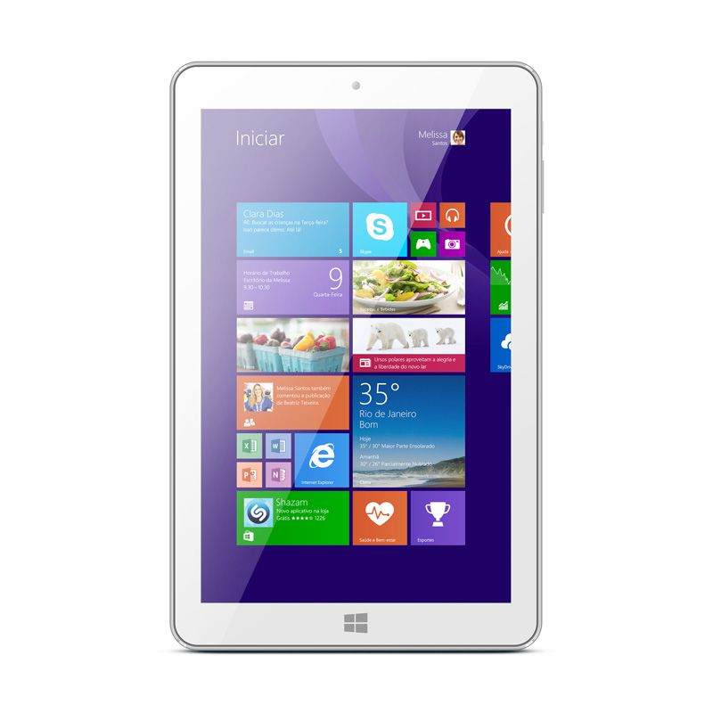 "Tablet Tx420 8"" 16gb Quad Core Windows 8.1 Branco"