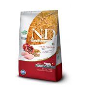 Ração N&D Low Grain Gatos Adultos Frango e Romã