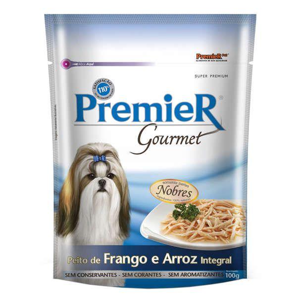 Alimento Úmido Sachê Premier Gourmet Cães Adultos Frango e Arroz 100g