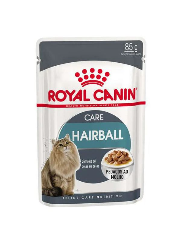 Alimento Úmido Sachê Royal Canin Hairball Care Gatos Adultos 85g