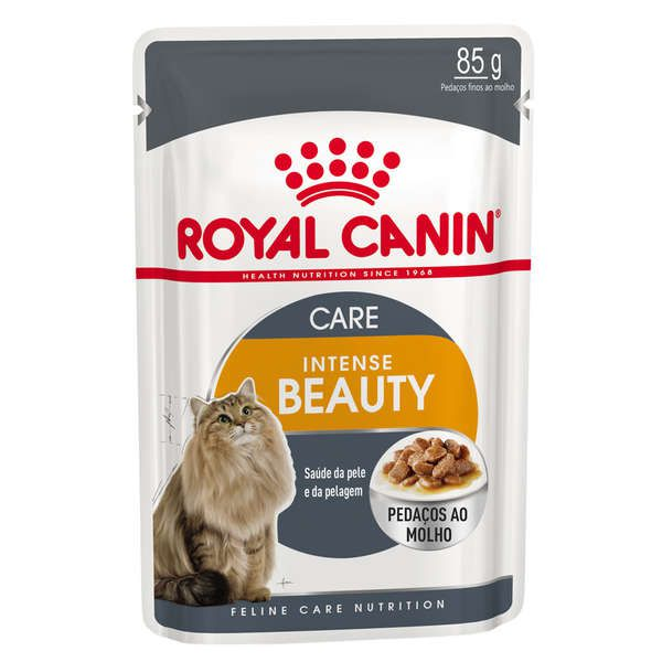 Alimento Úmido Sachê Royal Canin Intense Beauty Gatos Adultos 85g