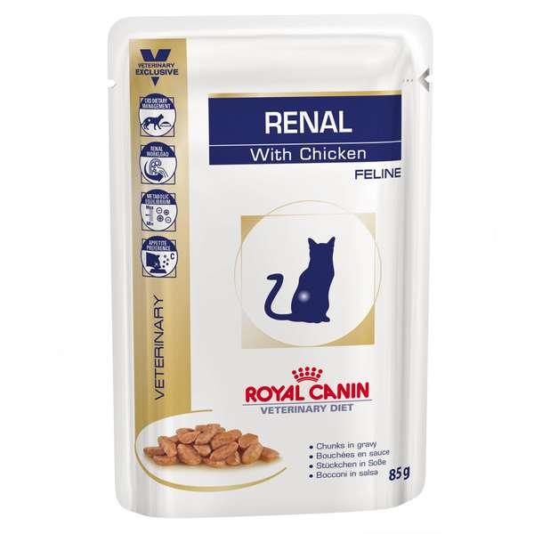 Alimento Úmido Sachê Royal Canin Renal Gatos Adultos 85g