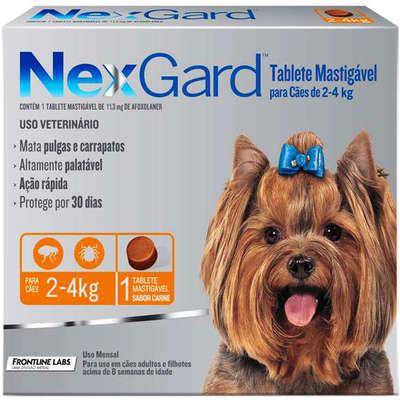 Antipulgas Nexgard Cães de 2 á 4Kg 1 Tablete