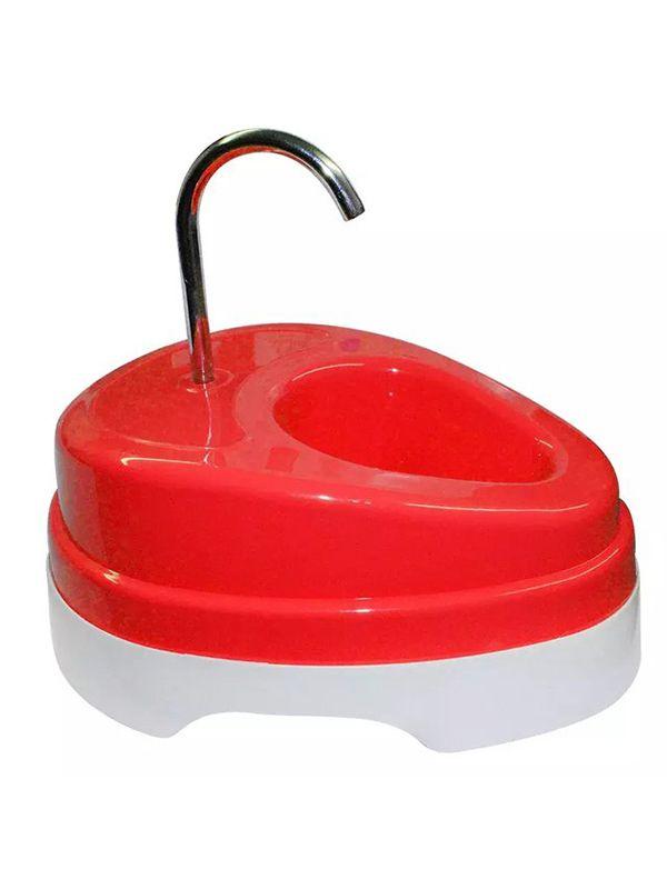 Fonte Bebedouro Para Gatos Água Corrente Four Plastic Vermelho 110V