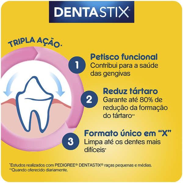 Petisco Dentastix Cães Raças Médias 77 g