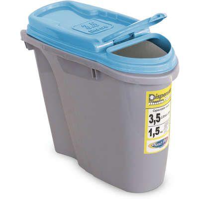 Porta Ração Plast Pet Dispenser Home - Azul