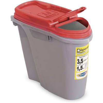 Porta Ração Plast Pet Dispenser Home - Vermelho