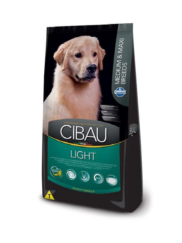 Ração Cibau Light Cães Adultos Raças Médias e Grandes 12Kg