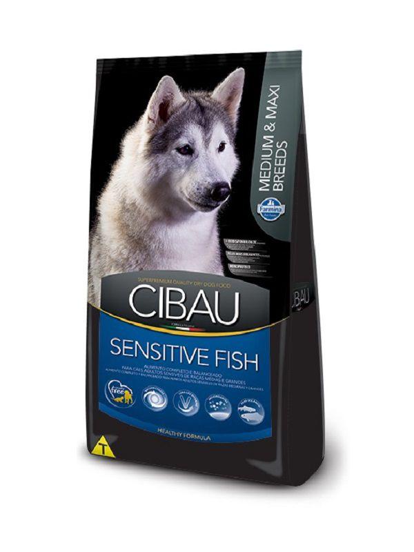 Ração Cibau Sensitive Fish Cães Adultos Raças Médias e Grandes 12Kg