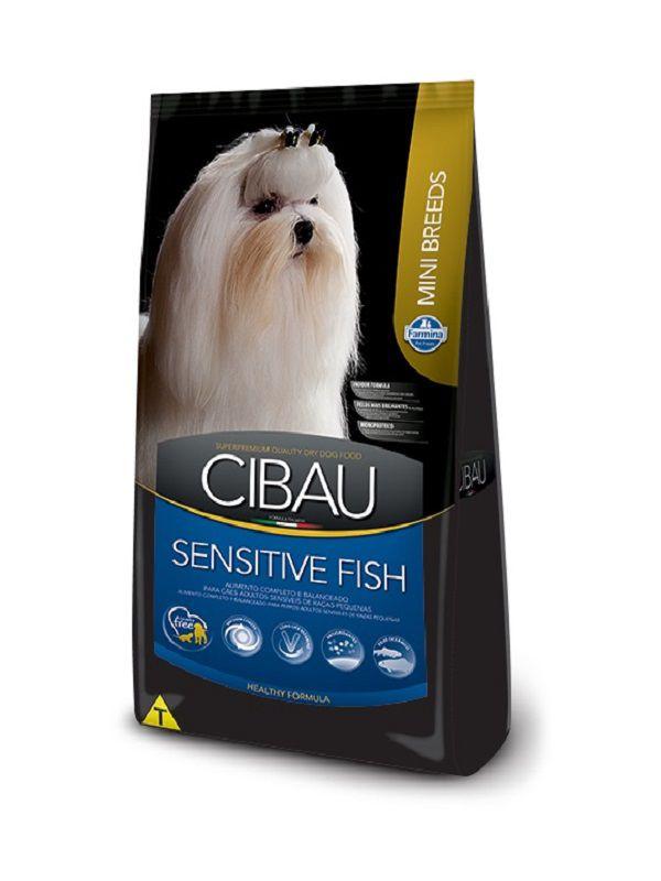 Ração Cibau Sensitive Fish Cães Adultos Raças Pequenas 10.1kg
