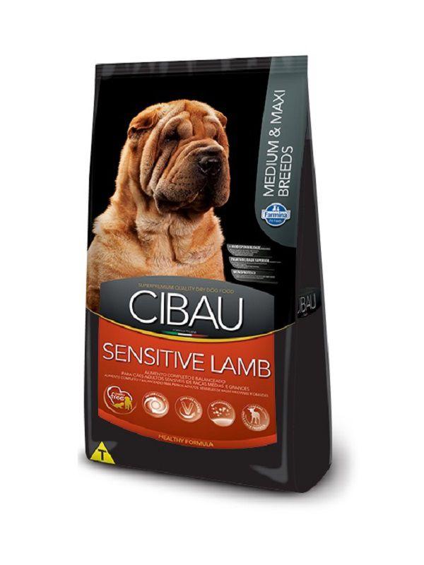 Ração Cibau Sensitive Lamb Cães Adultos Raças Médias e Grandes 12Kg