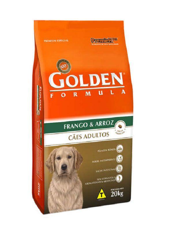 Ração Golden Cães Adultos Frango e Arroz 15kg