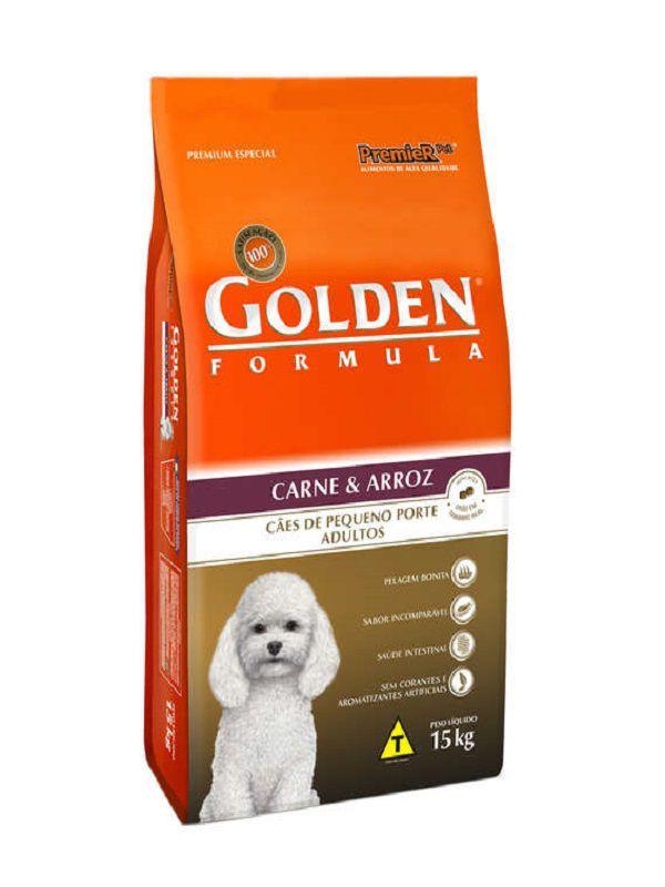 Ração Golden Cães Adultos Mini Bits Carne e Arroz