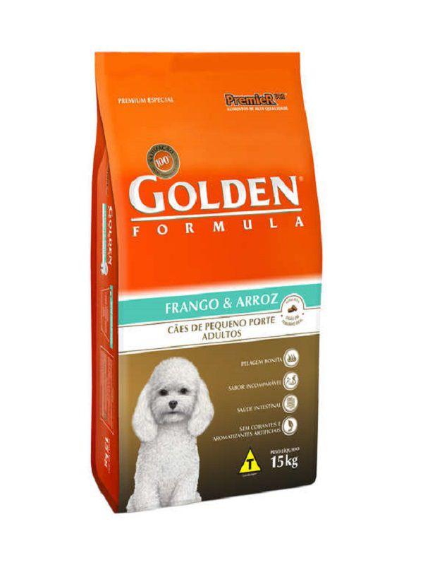 Ração Golden Cães Adultos Mini Bits Frango e Arroz