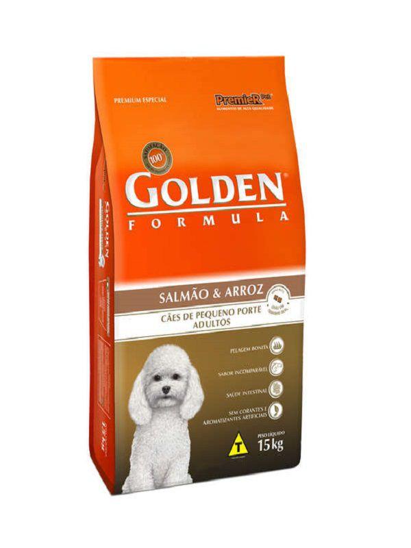 Ração Golden Cães Adultos Mini Bits Salmão e Arroz