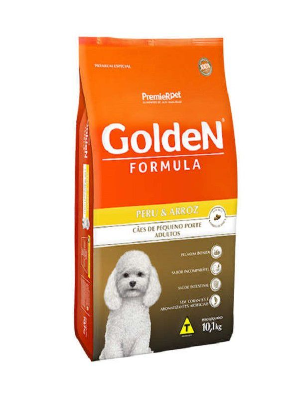 Ração Golden Cães Adultos Raças Pequenas Peru 3,0kg