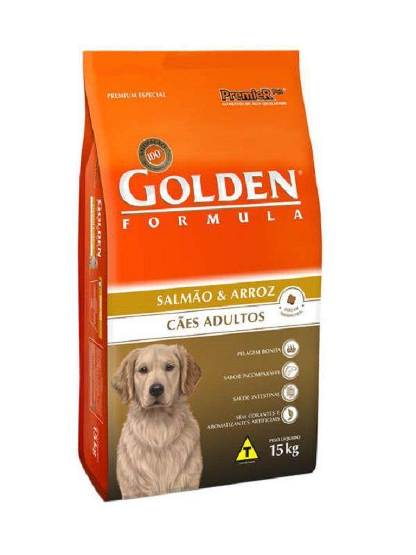 Ração Golden Cães Adultos Salmão e Arroz 15kg