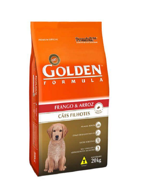 Ração Golden Cães Filhotes Frango e Arroz