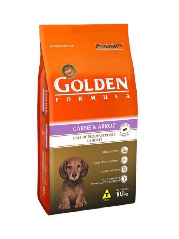 Ração Golden Cães Filhotes Mini Bits Carne e Arroz