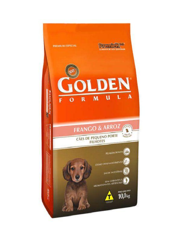 Ração Golden Cães Filhotes Mini Bits Frango e Arroz