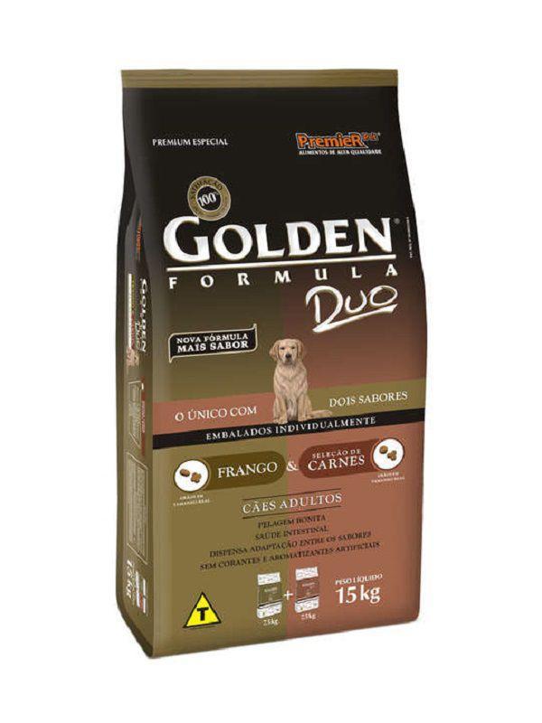 Ração Golden Duo Cães Adultos Carne e Frango 15kg