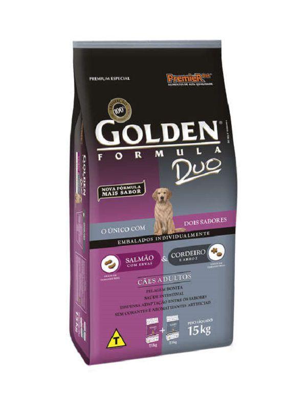 Ração Golden Duo Cães Adultos Cordeiro e Salmão 15kg
