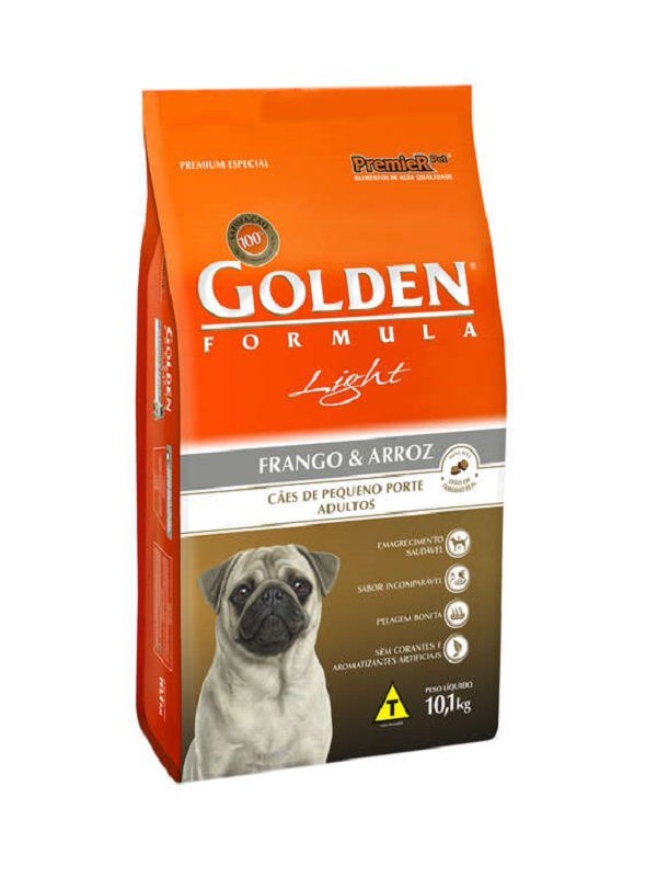 Ração Golden Light Cães Adultos Mini Bits Frango e Arroz