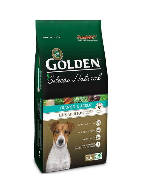 Ração Golden Seleção Natural Cães Adultos Raças Pequenas Mini Bits Frango e Arroz 10kg