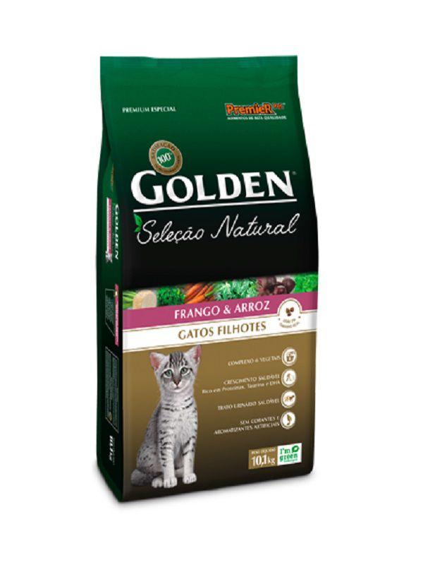 Ração Golden Seleção Natural Gatos Filhotes Frango