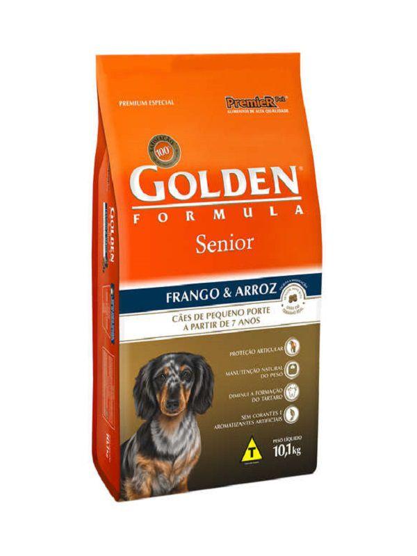 Ração Golden Sênior Cães Adultos Mini Bits Frango e Arroz