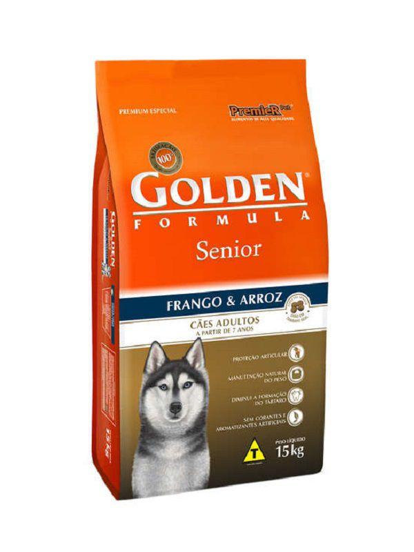 Ração Golden Sênior Cães Frango e Arroz 15Kg