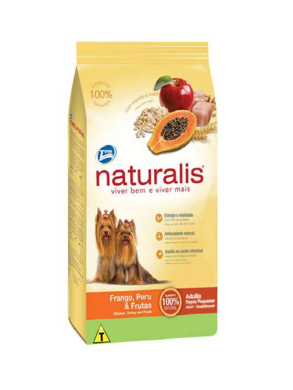 Ração Naturalis Cães Adultos Frango e Frutas Raças Pequenas