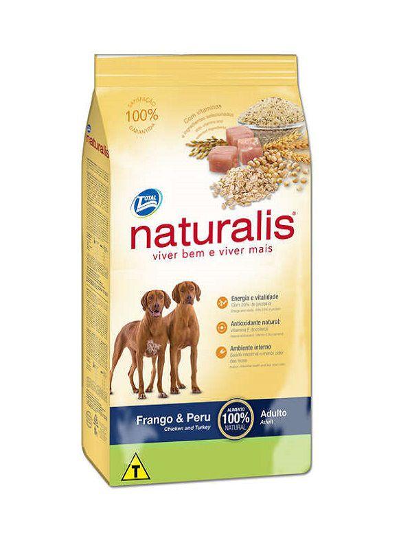 Ração Naturalis Cães Adultos Raças Médias e Grandes Frango e Peru 15 Kg