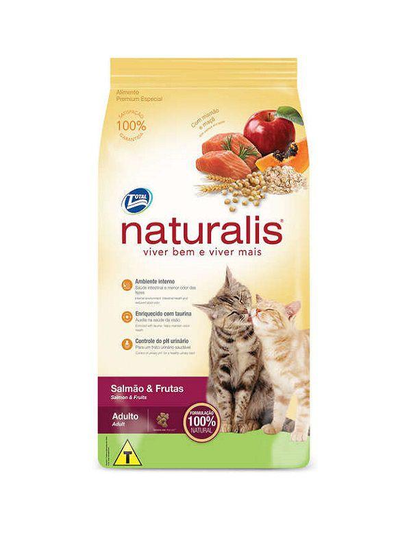 Ração Naturalis Gatos Adultos Salmão e Frutas 10 Kg
