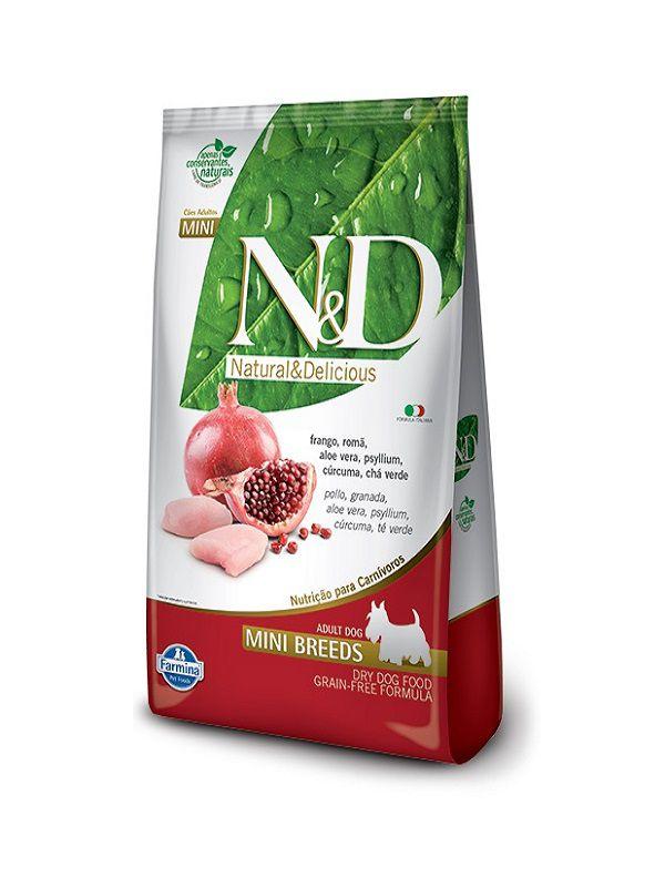 Ração N&D Grain Free Cães Adultos Raças Pequenas Frango e Romã 10,1kg
