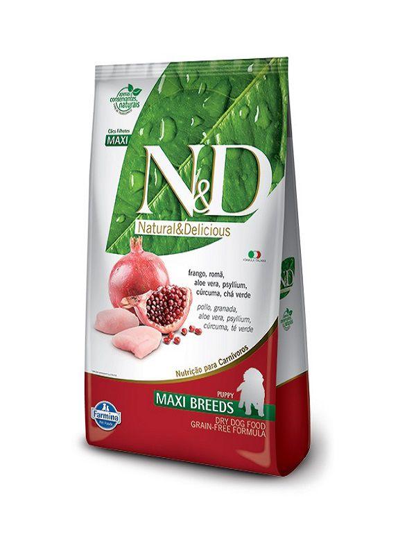 Ração N&D Grain Free Cães Filhotes Raças Grandes Frango 10,1Kg
