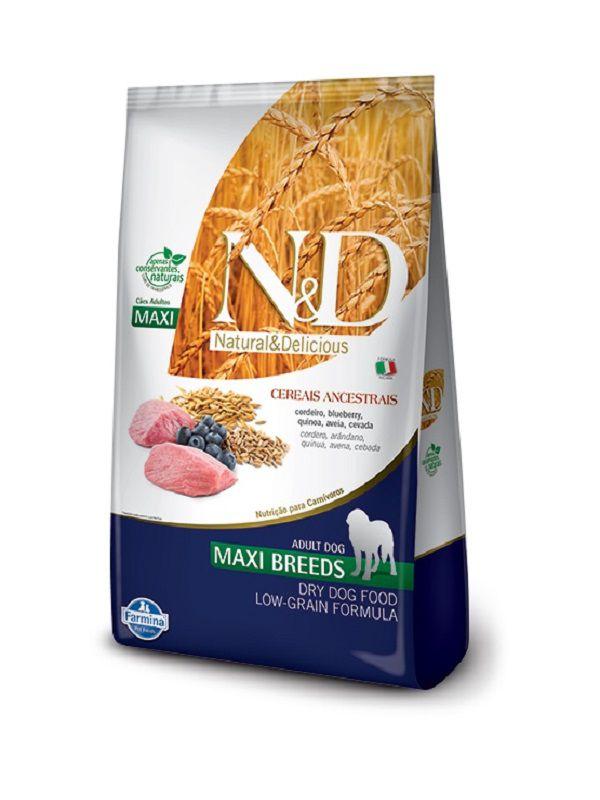 Ração N&D Low Grain Cães Adultos Raças Grandes Cordeiro e Blueberry 10,1Kg